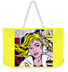 M-maybe Weekender Tote Bag by Roy Lichtenstein