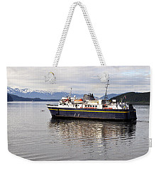 Weekender Tote Bag featuring the photograph M/v Leconte by Cathy Mahnke