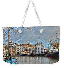 Weekender Tote Bag featuring the photograph Maassluis Harbour by Frans Blok