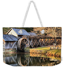 Mabry Grist Mill Fall Panorama Weekender Tote Bag