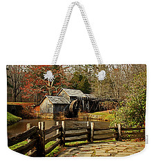 Weekender Tote Bag featuring the photograph Mabry Mill by Suzanne Stout