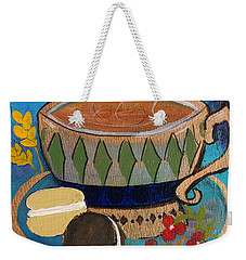 Macaroons And Tea Weekender Tote Bag by Robin Maria Pedrero