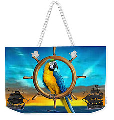 Macaw Pirate Parrot Weekender Tote Bag by Glenn Holbrook