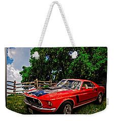 1969 Ford Mach 1 Mustang Weekender Tote Bag