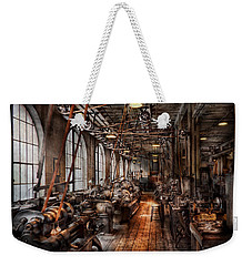 Machinist - A Fully Functioning Machine Shop  Weekender Tote Bag