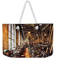 Machinist - Machine Shop Circa 1900's Weekender Tote Bag by Mike Savad