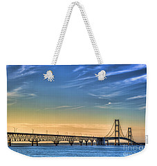 Mackinac Sunset Weekender Tote Bag
