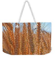 Macro Of Wheat Art Prints Weekender Tote Bag by Valerie Garner