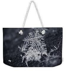 Macro Snowflake Weekender Tote Bag