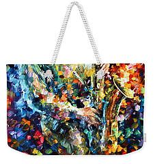 Mad Jazz Weekender Tote Bag by Leonid Afremov