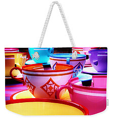 Weekender Tote Bag featuring the photograph Mad Tea Party by Benjamin Yeager