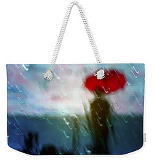 Madame With Umbrella Weekender Tote Bag