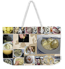 Weekender Tote Bag featuring the photograph Made In Lithuania... Cepelinai- Potato Dumplings by Ausra Huntington nee Paulauskaite