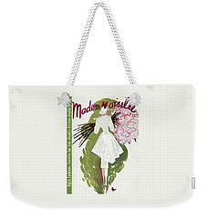 Mademoiselle Cover Featuring A Woman Carrying Weekender Tote Bag by Elizabeth Dauber