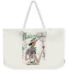 Mademoiselle Cover Featuring A Woman Holding Weekender Tote Bag by Helen Jameson Hall