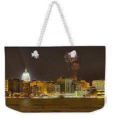 Madison Skyline New Years Eve Weekender Tote Bag
