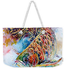 Magic Of Arowana Weekender Tote Bag by Zaira Dzhaubaeva