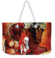 Weekender Tote Bag featuring the painting Magic Poultry by Otto Rapp