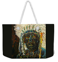 Magic Powers,  Native American Indian Chief Weekender Tote Bag