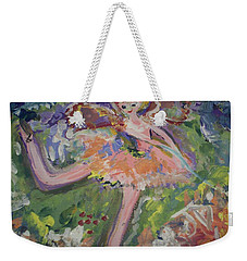 Magical Maggie The Fairy Weekender Tote Bag by Judith Desrosiers