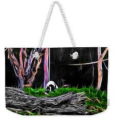 Walk In Magical Land Of The Black And White Ruffed Lemur Weekender Tote Bag