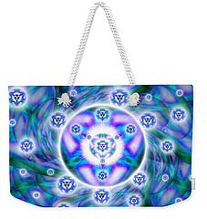 Weekender Tote Bag featuring the drawing Magnetic Fluid Harmony by Derek Gedney
