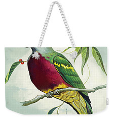 Magnificent Fruit Pigeon Weekender Tote Bag by Bert Illoss