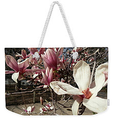 Weekender Tote Bag featuring the photograph Magnolia Branches by Caryl J Bohn