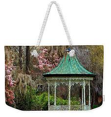 Magnolia Garden Throw Pillow Weekender Tote Bag