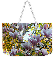 Weekender Tote Bag featuring the photograph Magnolia Maidens by Leanne Seymour