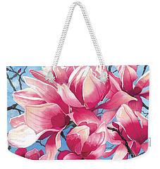 Magnolia Medley Weekender Tote Bag by Barbara Jewell