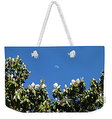 Weekender Tote Bag featuring the photograph Magnolia Moon by Meghan at FireBonnet Art