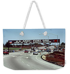 Main Gate 7th Inf. Div Fort Ord Army Base Monterey Calif. 1984 Pat Hathaway Photo Weekender Tote Bag