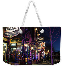 Main Street Breckenridge Colorado Weekender Tote Bag by Fiona Kennard