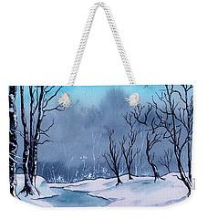 Maine Snowy Woods Weekender Tote Bag