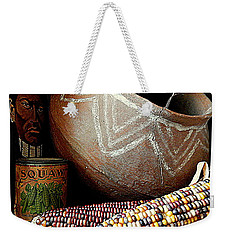 Pottery And Maize Indian Corn Still Life In New Orleans Louisiana Weekender Tote Bag