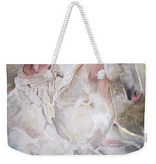 Weekender Tote Bag featuring the pastel Majestic Flow by Peter Suhocke