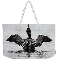 Majestic Loon Weekender Tote Bag by Cheryl Baxter
