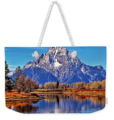 Weekender Tote Bag featuring the photograph Majestic Moran by Benjamin Yeager