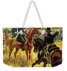 Major General George Meade At The Battle Of Gettysburg Weekender Tote Bag