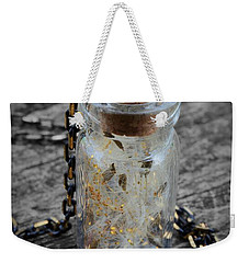 Make A Wish - Dandelion Seed In Glass Bottle With Gold Fairy Dust Necklace Weekender Tote Bag
