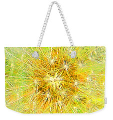 Make A Wish In Greenish Yellow Weekender Tote Bag