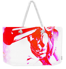 Weekender Tote Bag featuring the painting Make My Day by Brian Reaves