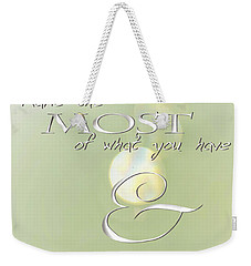 Weekender Tote Bag featuring the photograph Make The Most Of Your Journey by Vicki Ferrari