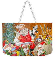 Making A List Checking It Twice Weekender Tote Bag