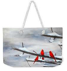 Making Acquaintances Weekender Tote Bag by Lourry Legarde