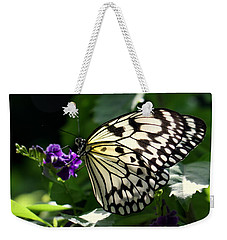 Weekender Tote Bag featuring the photograph Malabar Tree Nymph  by Suzanne Stout