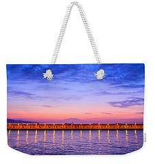 Weekender Tote Bag featuring the photograph Malaga Pink And Blue Sunrise  by Debra Martz