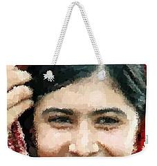 Malala Yousafzai Portrait Weekender Tote Bag