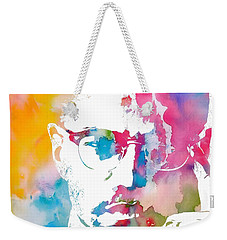 Malcolm X Watercolor Weekender Tote Bag
